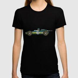 Green Retro Racing Car T-shirt