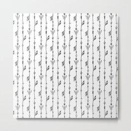 Black Lines boho pattern Metal Print