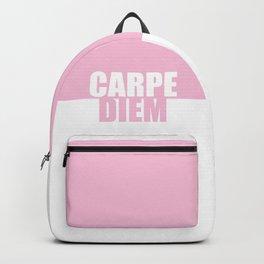 Carpe Diem... Inspirational Quote Backpack