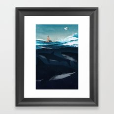 Distraction Framed Art Print