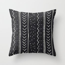 Moroccan Stripe in Black and White Throw Pillow