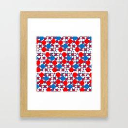 Red White & Blue Patriotic Modern Print Framed Art Print