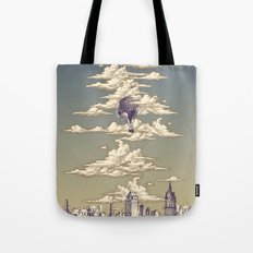 Go Ballooning! A Vintage Poster Recently! Tote Bag