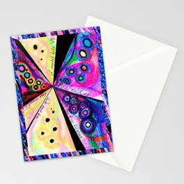 Neon Mosaic Stationery Cards