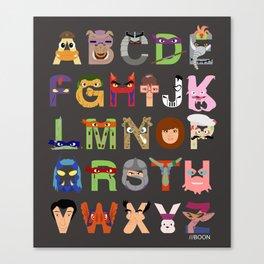 TMNT ABCs Canvas Print