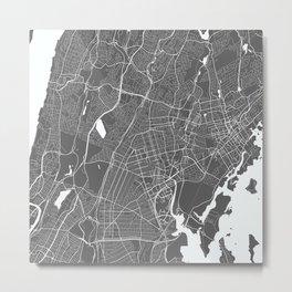 North NYC USA Modern Map Art Print Metal Print