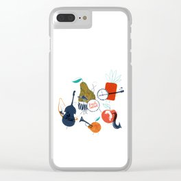 Fruit Jazzband Clear iPhone Case