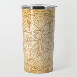 Gold Sun Mandala Travel Mug