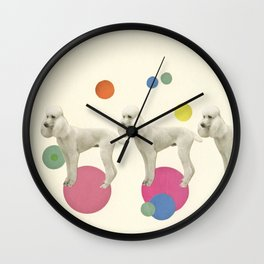 Oodles of Poodles Wall Clock