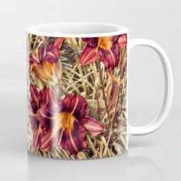 Red Daylilies, Flower Garden Coffee Mug