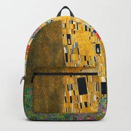 The Kiss, Fine Art Print, Gustav Klimt, Wedding Love Romance Gift Backpack