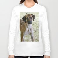 the hound Long Sleeve T-shirts featuring Hound Pup by IowaShots
