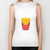 french fries Biker Tanks featuring Friend Fries by Wai Theng