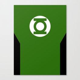 Minimalist Green Lantern - Hal Jordan Canvas Print