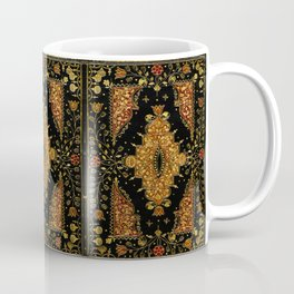 Black and Gold Floral Book Coffee Mug