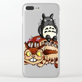 Catbus and ghibli Clear iPhone Case