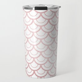 Simply Mermaid Scales in Rose Gold Sunset Travel Mug