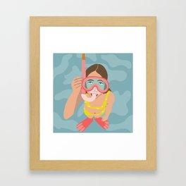 Scuba Girl Framed Art Print
