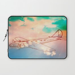Go Places - Airplane - Sky Laptop Sleeve
