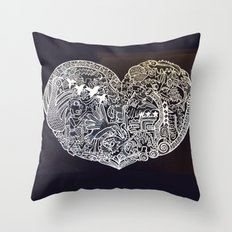 Ancient figures Throw Pillow