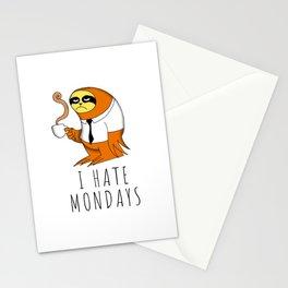 I hate Mondays Stationery Cards