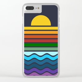 Geometric Rainbow Nature Clear iPhone Case