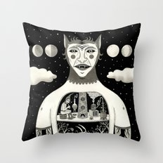 Under Skin Throw Pillow