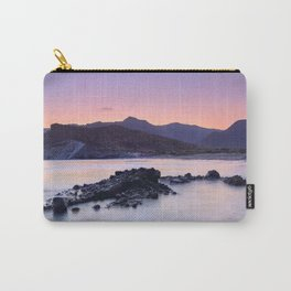 Half Moon Beach. Purple Sunset At The Mountains Carry-All Pouch