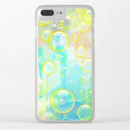 Watercolor Bubbles Clear iPhone Case
