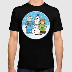 Want to Build a Snowman? Black MEDIUM Mens Fitted Tee