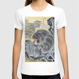 12,000pixel-500dpi - Kawanabe Kyosai - Monkeys - Digital Remastered Edition T-shirt