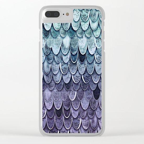 MAGIC MERMAID - MYSTIC TEAL-PURPLE Clear iPhone Case