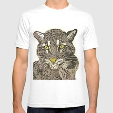 Clouded Leopard White SMALL Mens Fitted Tee