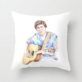 Sam Woolf - Watercolor Throw Pillow