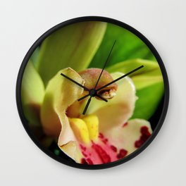 Exotic in Green Wall Clock