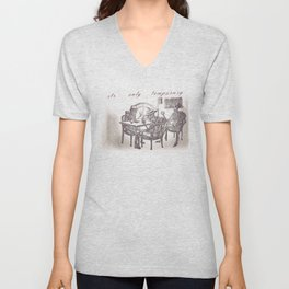 Its Only Temporary Unisex V-Neck