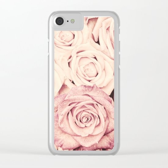 Some people grumble I Floral rose pattern pink Clear iPhone Case