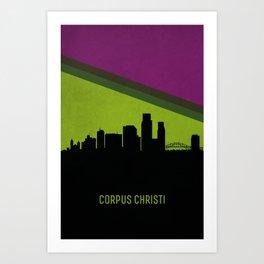 Corpus Christi Skyline Art Print