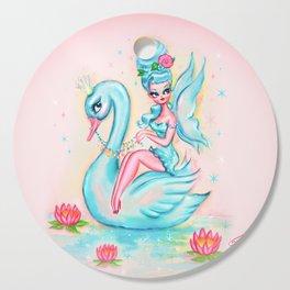 Blue Swan Fairy Cutting Board