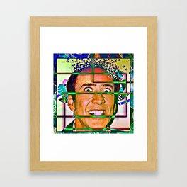 Nicolas caged Framed Art Print