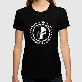 Molon Labe Come And Take Spartan Skull T-shirt