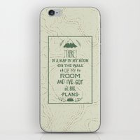 world maps iPhone & iPod Skins featuring Maps by Posters 4 Progress