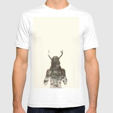 Natural habitat MEDIUM Mens Fitted Tee White
