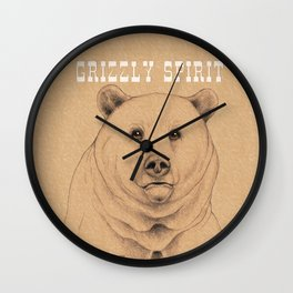 Grizzly Spirit Wall Clock