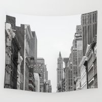 broadway Wall Tapestries featuring Broadway - NY by Basma Gallery