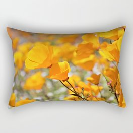 California Gold Poppies by Reay of Light Photography Rectangular Pillow