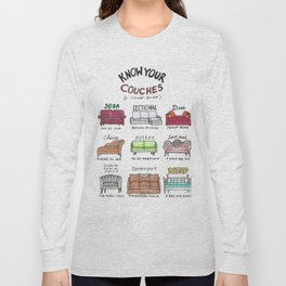 Know Your Couches: A Visual Guide Long Sleeve T-shirt