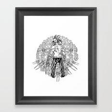 Skull Warrior Mandala Framed Art Print
