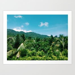 Sierra Nevada in colombian caribbean Art Print