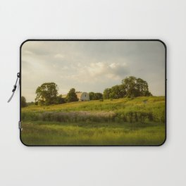 Rural / Farmhouse Landscape Photo Remnant of Better Days - Nature - Country - Meadow Laptop Sleeve